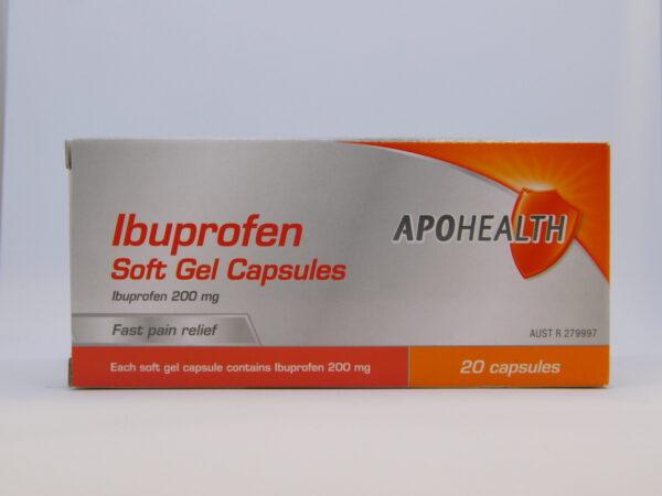 Ibuprofen Apo Soft Gel Capsules 20