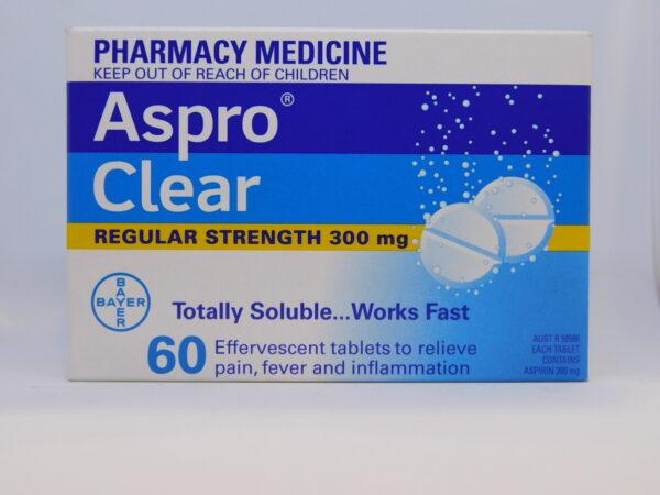 Aspro Clear Regular Strength Tablets 60