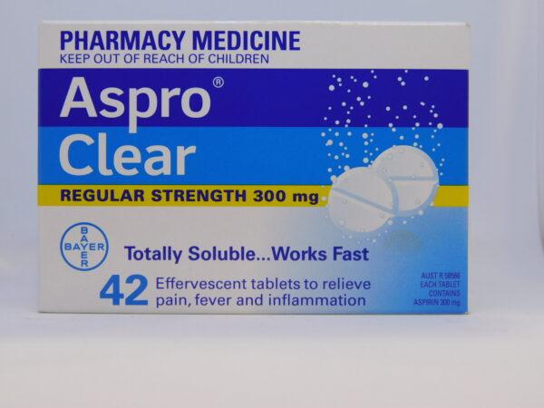 Aspro Clear Regular Strength Tablets 42