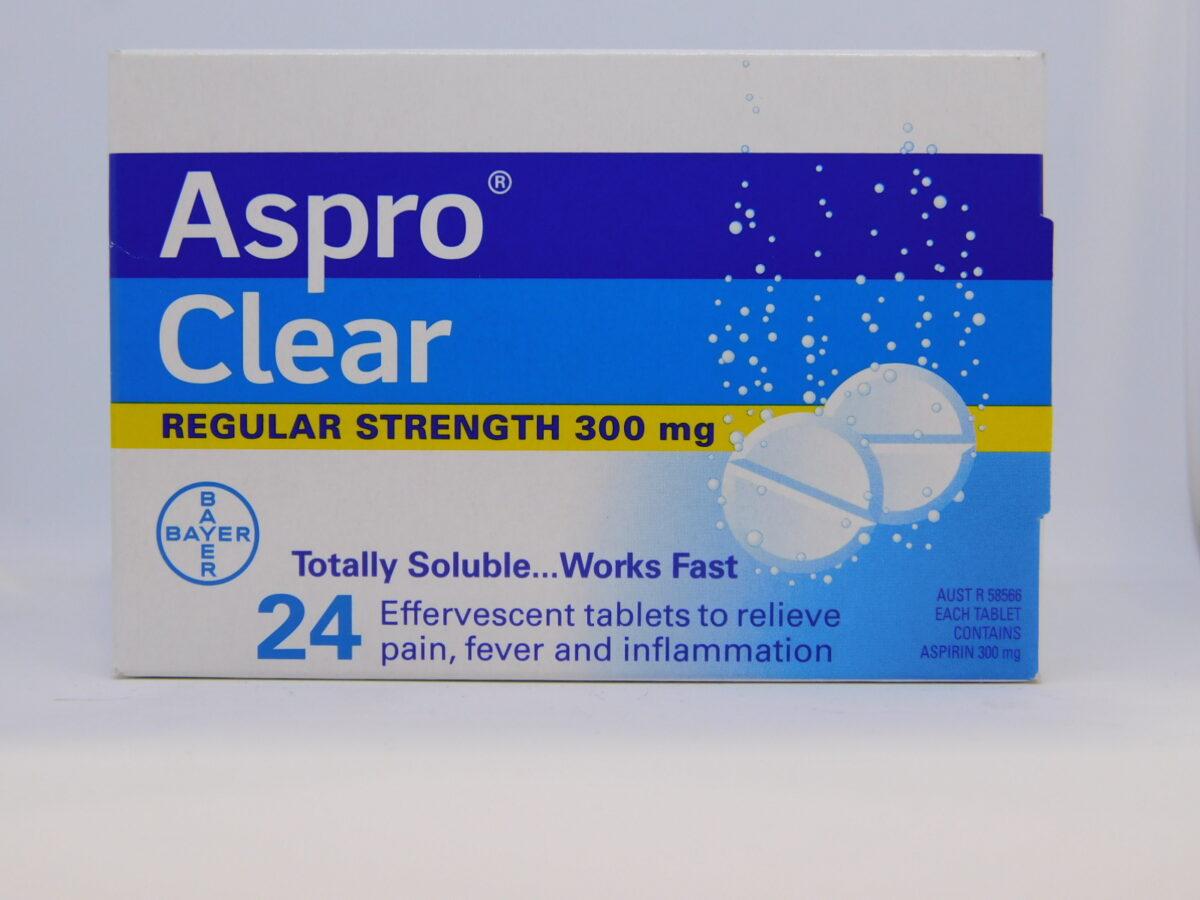 Aspro Clear Regular Strength Tablets 24
