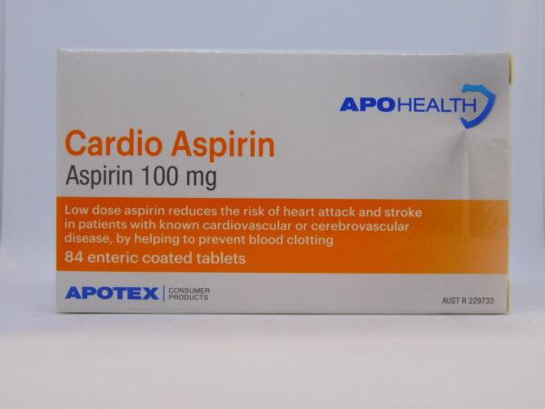 Cardio Aspirin Apo EC Tablets 84