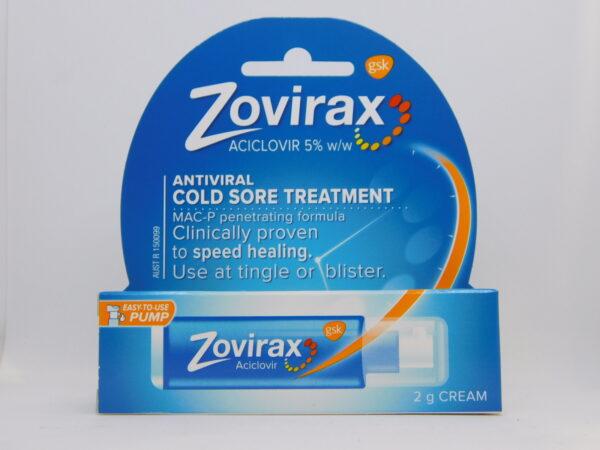 Zovirax Cold Sore Cream 2g Pump
