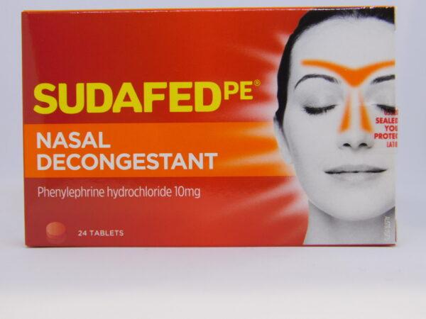 Sudafed PE Nasal Decongestant Tablets 24