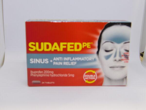 Sudafed PE Sinus Anti inflammatory Pain Tablets 24