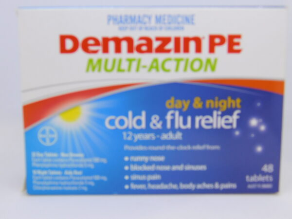 Demazin PE Day & Night Cold & Flu Relief Tablets 48