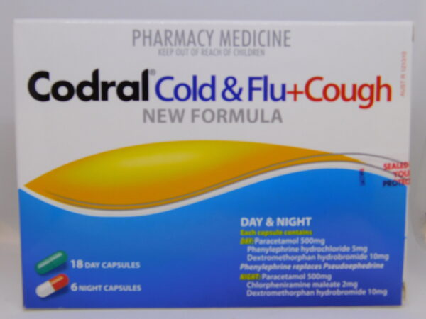 Codral PE Day & Night + Cough Capsules 24