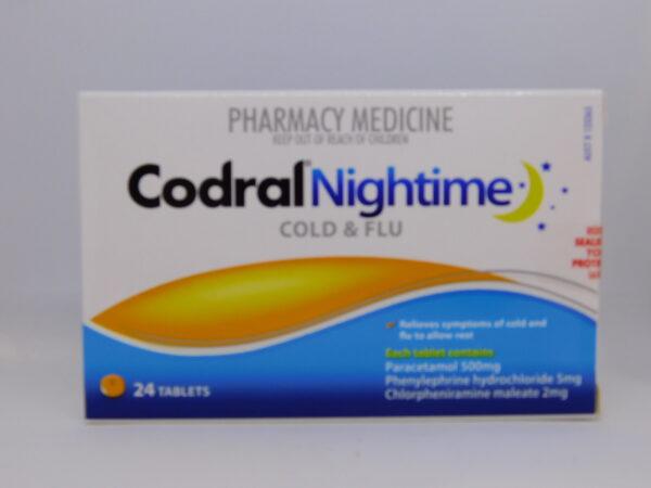 Codral Pe Nightime Cold & Flu Tablets 24