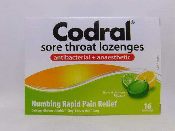 Codral Sore Throat Antibacterial & Anaesthetic Lozenges 16