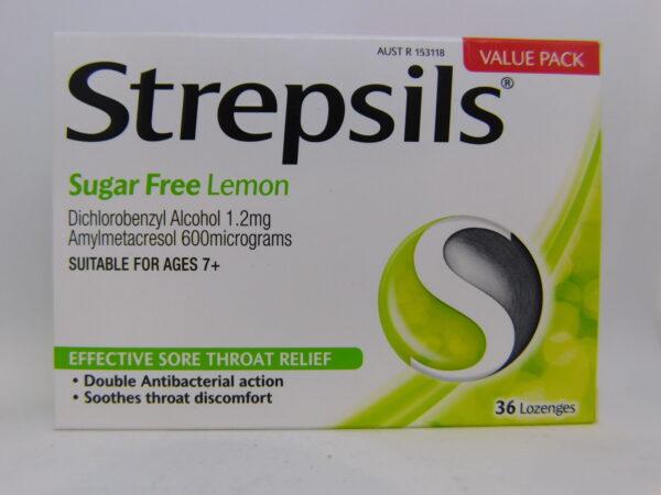 Strepsils Sugar Free Lemon Lozenges 36