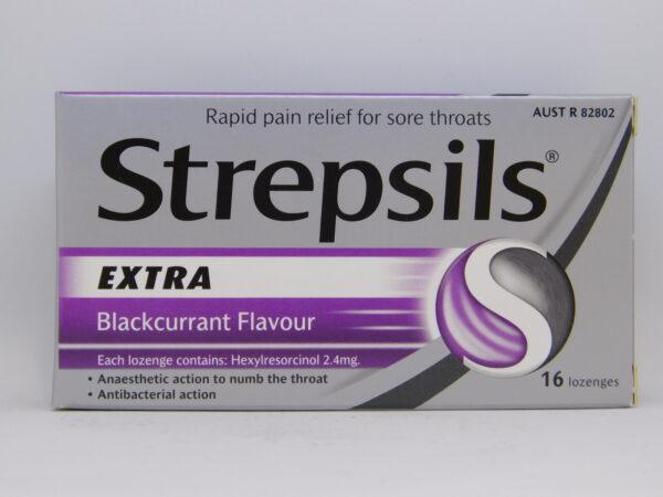 Strepsils Extra Blackcurrant Lozenges 16
