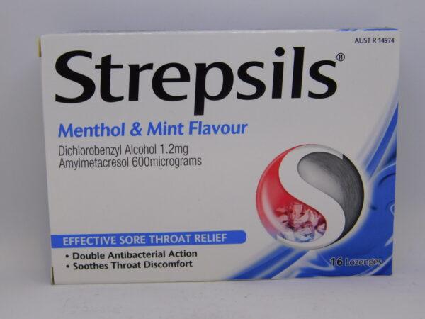 Strepsils Menthol & Mint Flavour Lozenges 16