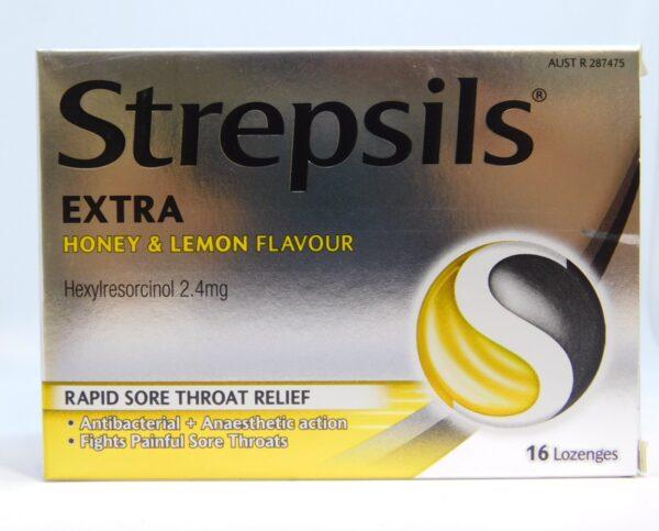 Strepsils Extra Honey & Lemon Lozenges 16