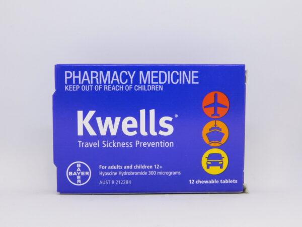 Kwells Travel Sickness Chewable Tablets 12