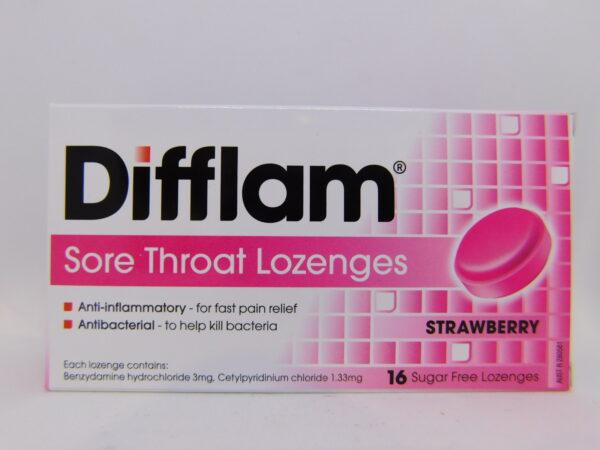 Difflam Strawberry Lozenges 16