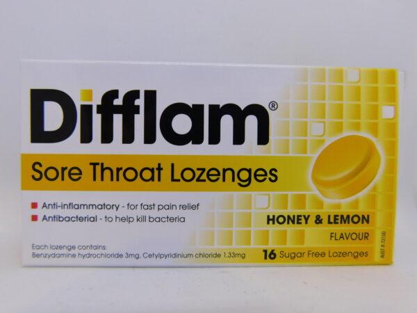 Difflam Honey & Lemon Lozenges 16