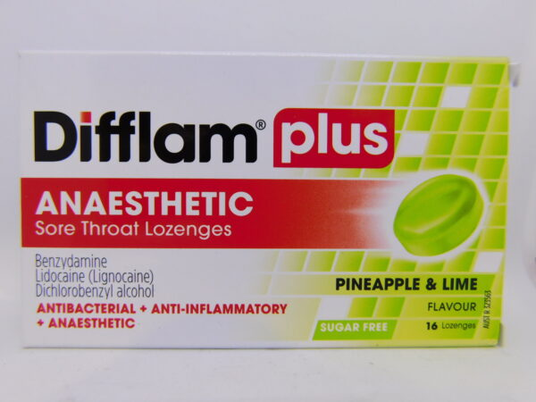 Difflam Plus Aneasthetic Lozenges Pinelime 16