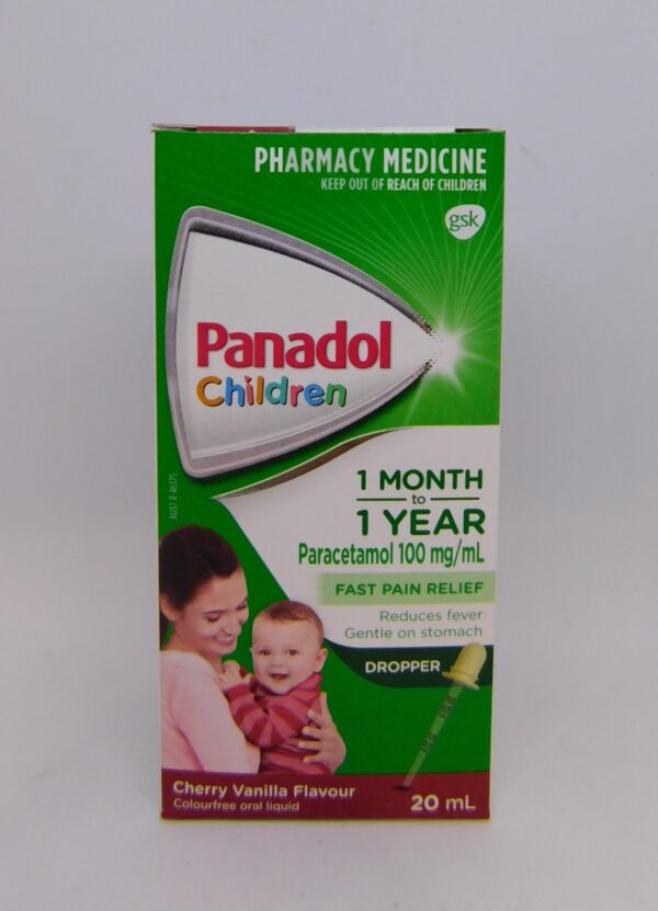 Panadol 1 Month to 1 Year 20mL Dropper
