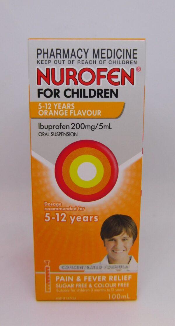 Nurofen 5 - 5 Years 100mL Orange