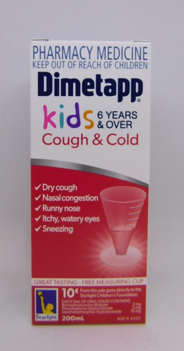 Dimetapp Cough & Cold 6 Years & Over 200mL