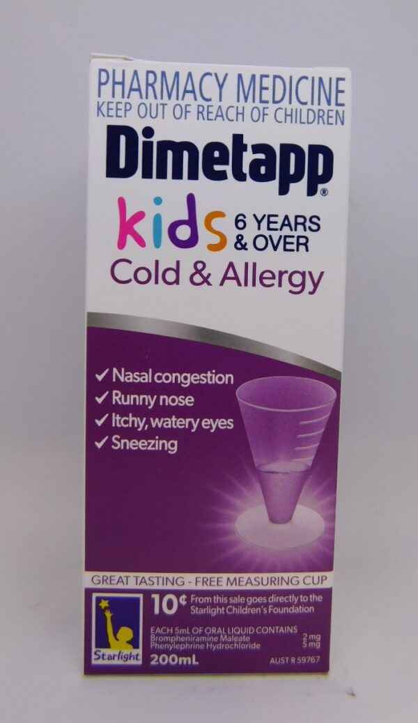 Dimetapp Cold & Allergy 6 Years & Over 200mL