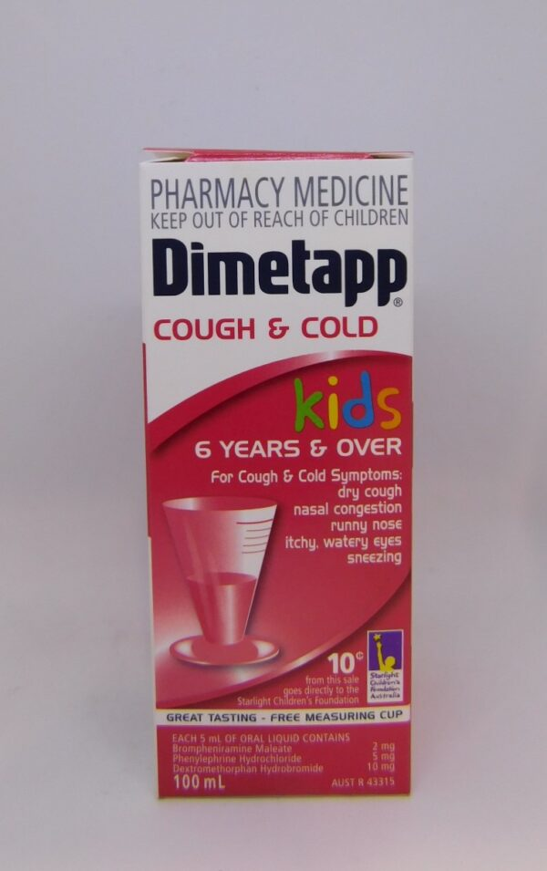 Dimetapp Cough & Cold 6 Years & Over 100mL