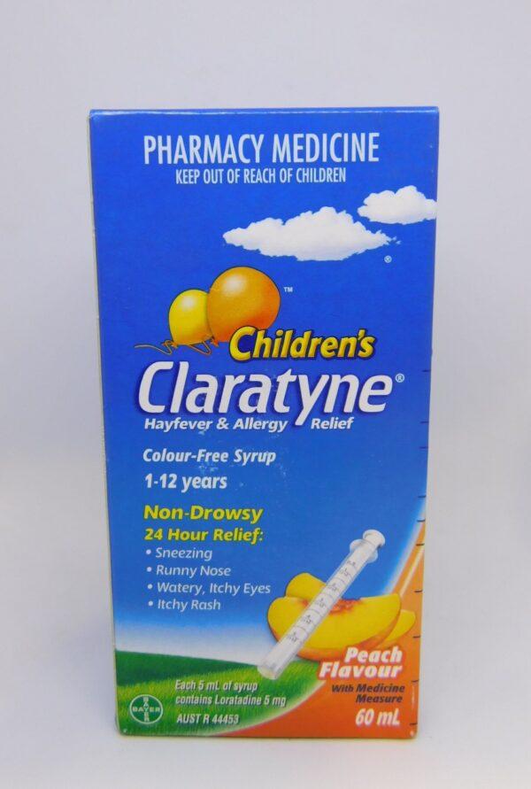 Claratyne Children's 1-12 Years 60mL Peach