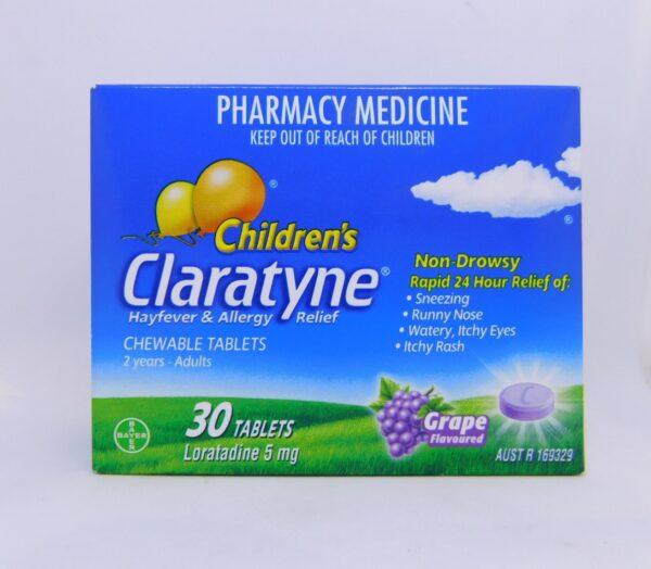 Claratyne Children's 2 Years - Adult Tablets 30 Grape
