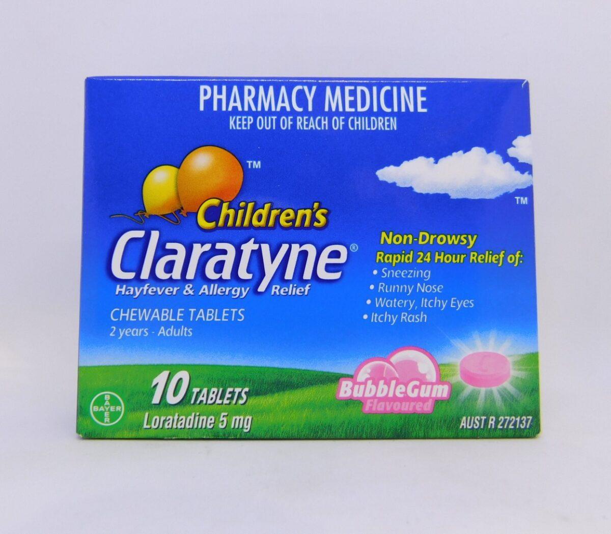 Claratyne Children's 2 Years - Adult Tablets 10 BubbleGum